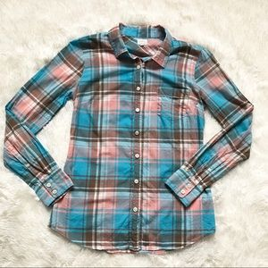 J Crew XS plaid the perfect shirt button front